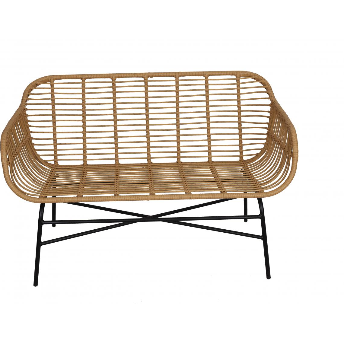 La chaise longue Canapé de Jardin en Métal Beige PANAMA