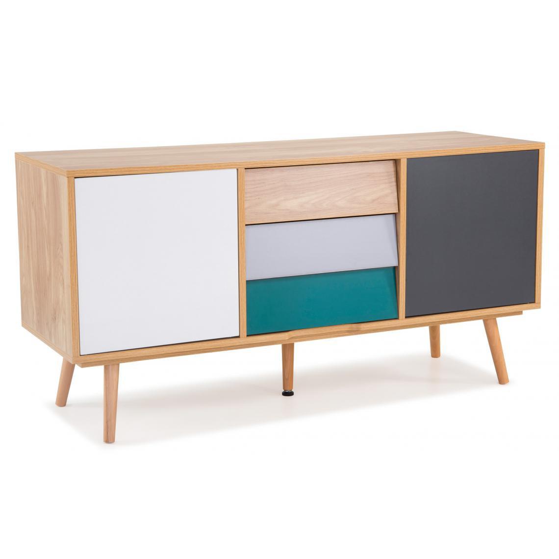 3S. x Home Meuble TV Pin Multicolore ALASKA
