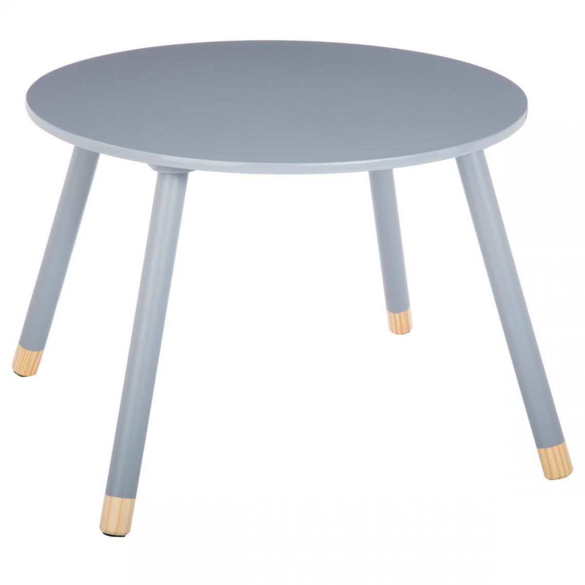 3S. x Home TABLE DOUCEUR GRIS D.60 CM