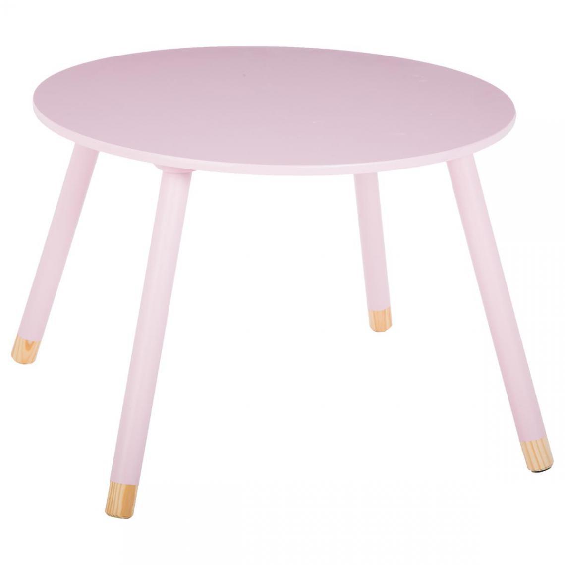 3S. x Home TABLE DOUCEUR ROSE D.60 CM