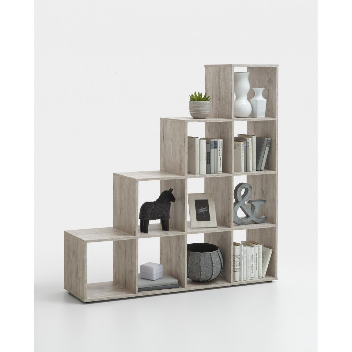 3S. x Home Bibliothèque escalier 10 cases LOUDA