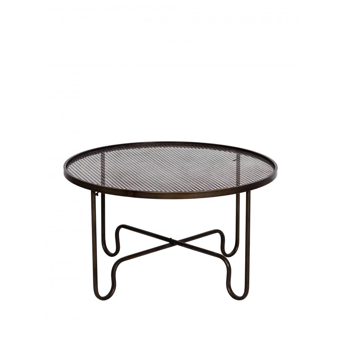 Chehoma Table basse rond plateau grillagé RETO
