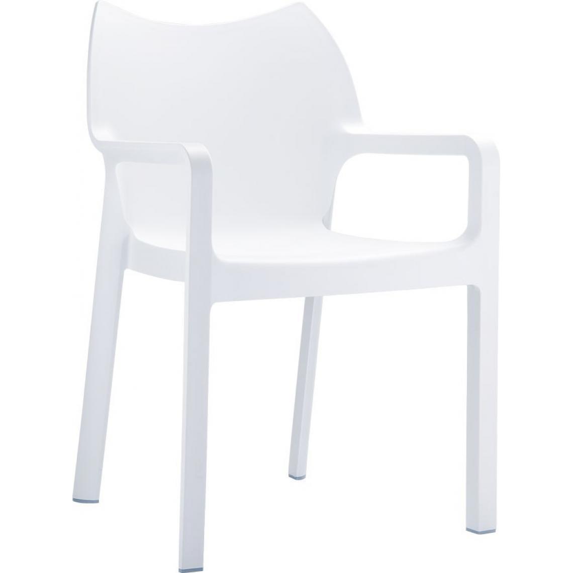 Siesta Design Chaise design blanche DIVINA