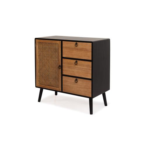 3S. x Home - Cabinet 3 tiroirs Noir LARRY 3S. x Home   - Commode