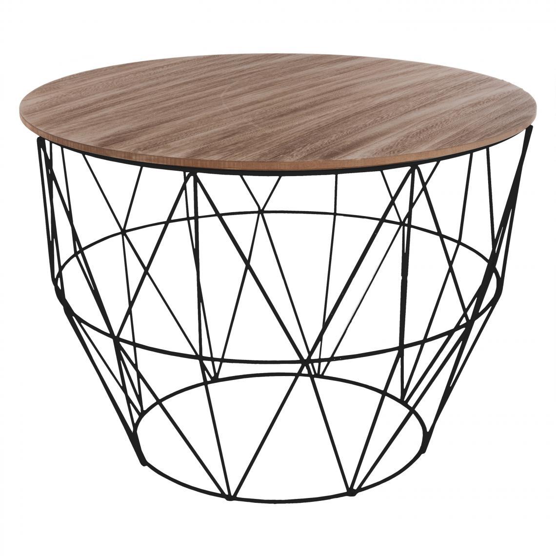 3S. x Home Table Basse Noir ATOMIC Noir