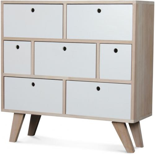 OPJET - Commode Bois Blanc MONTREAL - Commode