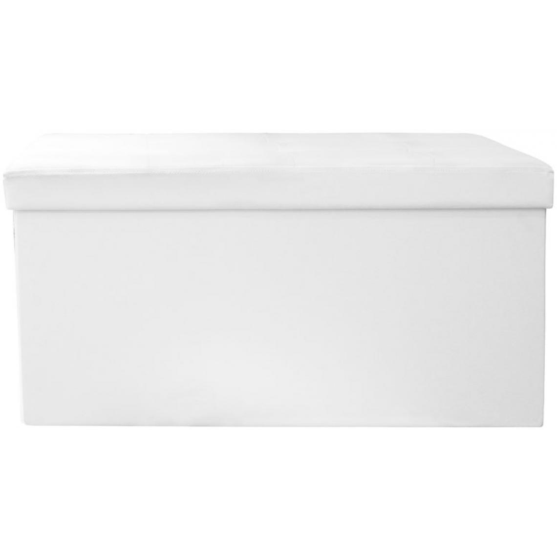 3S. x Home Banquette Coffre Pliable Blanc DOTTY