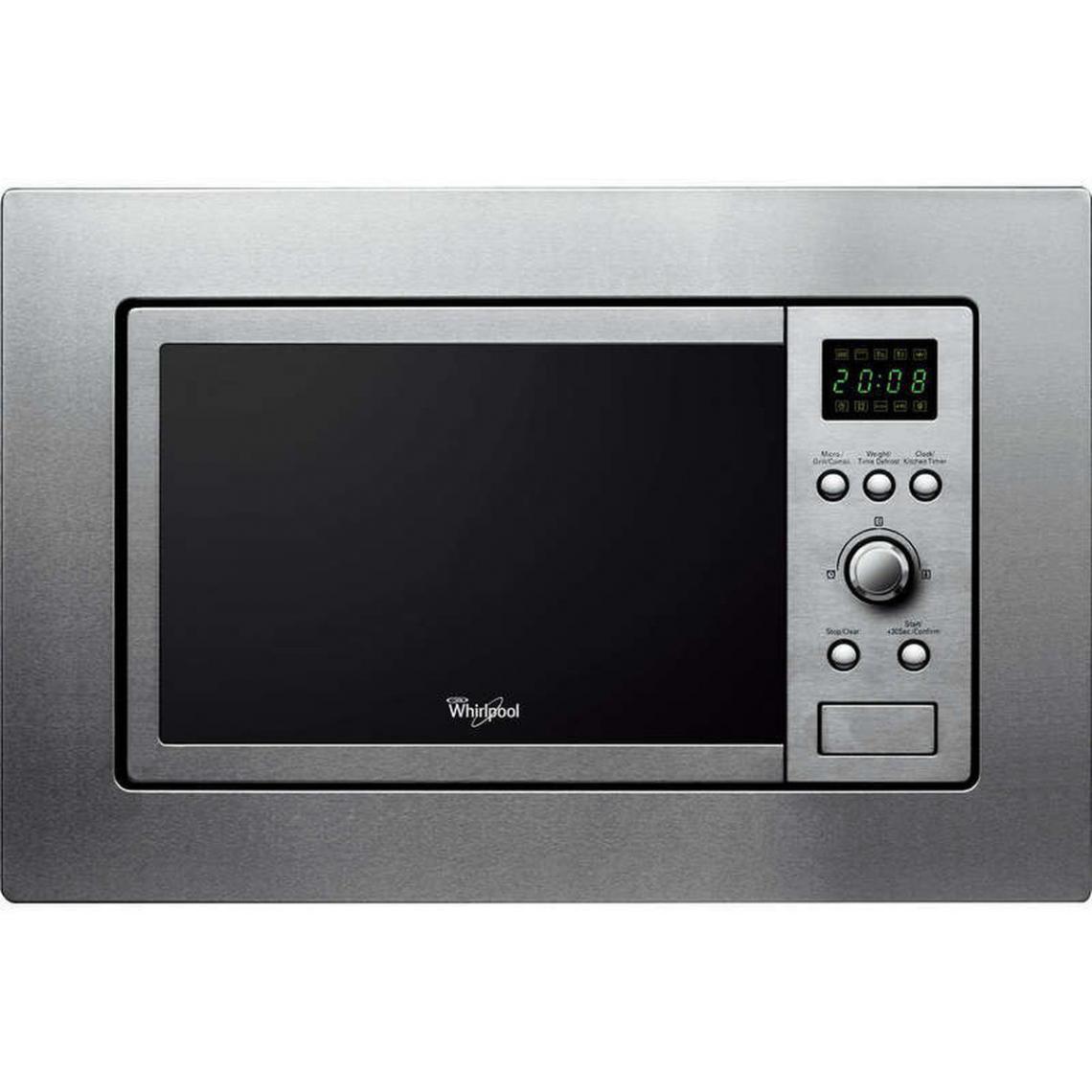Whirlpool Micro-ondes Grill encastrable 800W - AMW 140 IX - Inox