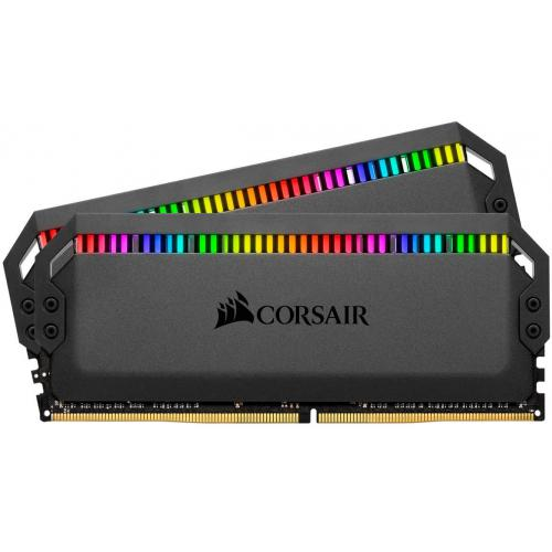 Corsair - DOMINATOR PLATINUM RGB BLACK 16 Go (2x8 Go) 3600Mhz CL18 - RAM PC Fixe