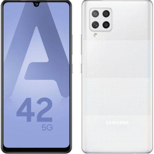 Samsung - Galaxy A42 5G 128 Go Blanc - Bonnes affaires Smartphone Android