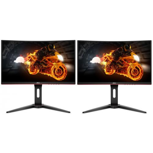 "Aoc - Lot de 2 24"" LED C24G1 - Moniteur PC 144 hz"
