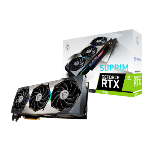 Msi - GeForce RTX 3070 SUPRIM - Triple Fan - 8Go - NVIDIA GeForce RTX 3070