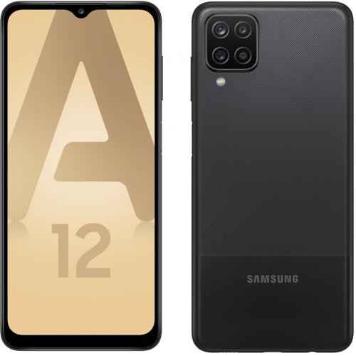 Samsung - Galaxy A12 - 64 Go - Noir - Smartphone Android