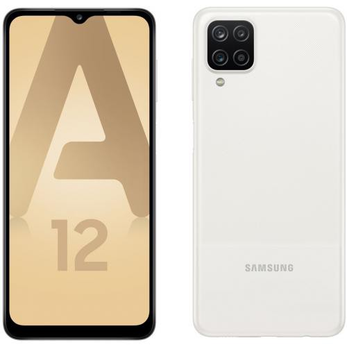 Samsung - Galaxy A12 - 64 Go - Blanc - Bonnes affaires Smartphone Android