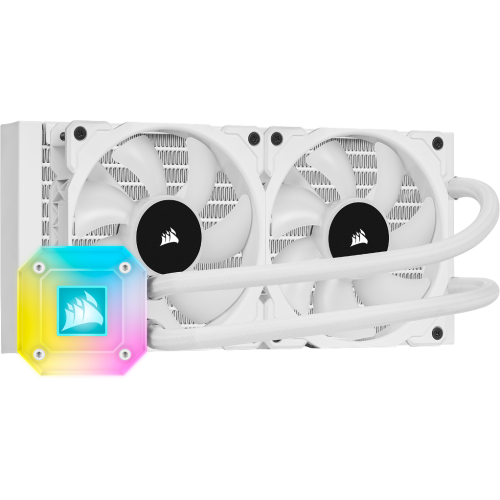 Corsair iCUE H100i ELITE CAPELLIX 240mm - BLANC