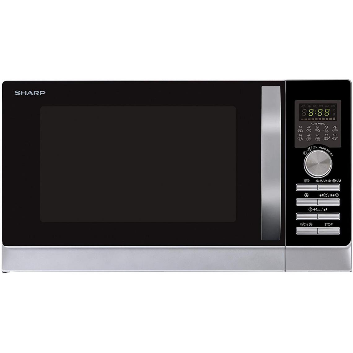 Sharp Micro-ondes Grill - 25L - 900W - R843INW Argent