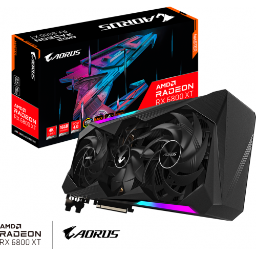 Gigabyte - Radeon RX 6800 XT AORUS MASTER Type C - Triple Fan - 16Go - Carte Graphique AMD