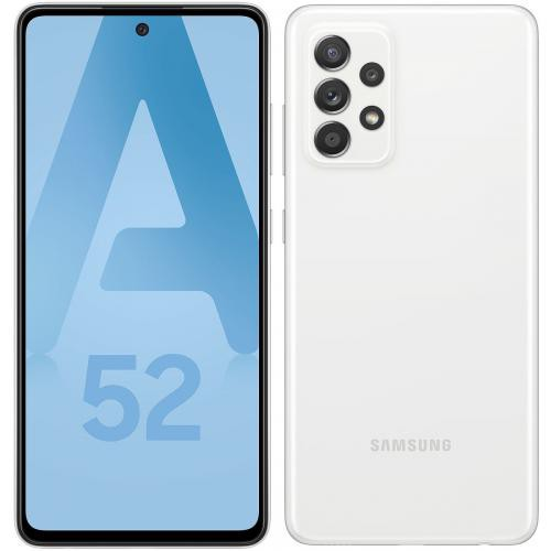 Samsung - Galaxy A52 4G - 128 Go - Blanc - Smartphone Android