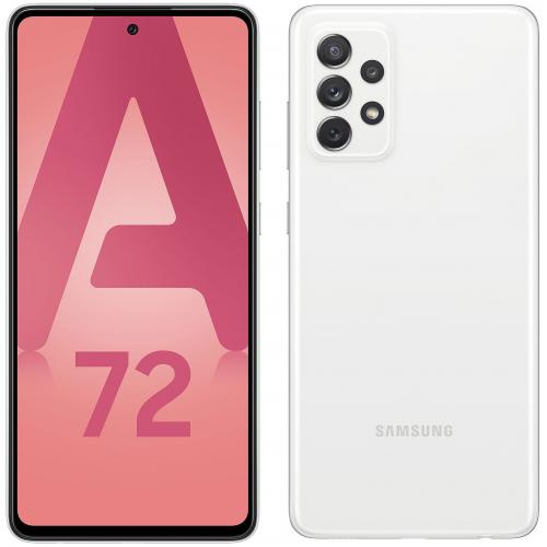 Samsung - Galaxy A72 - 128 Go - Blanc - Smartphone Android