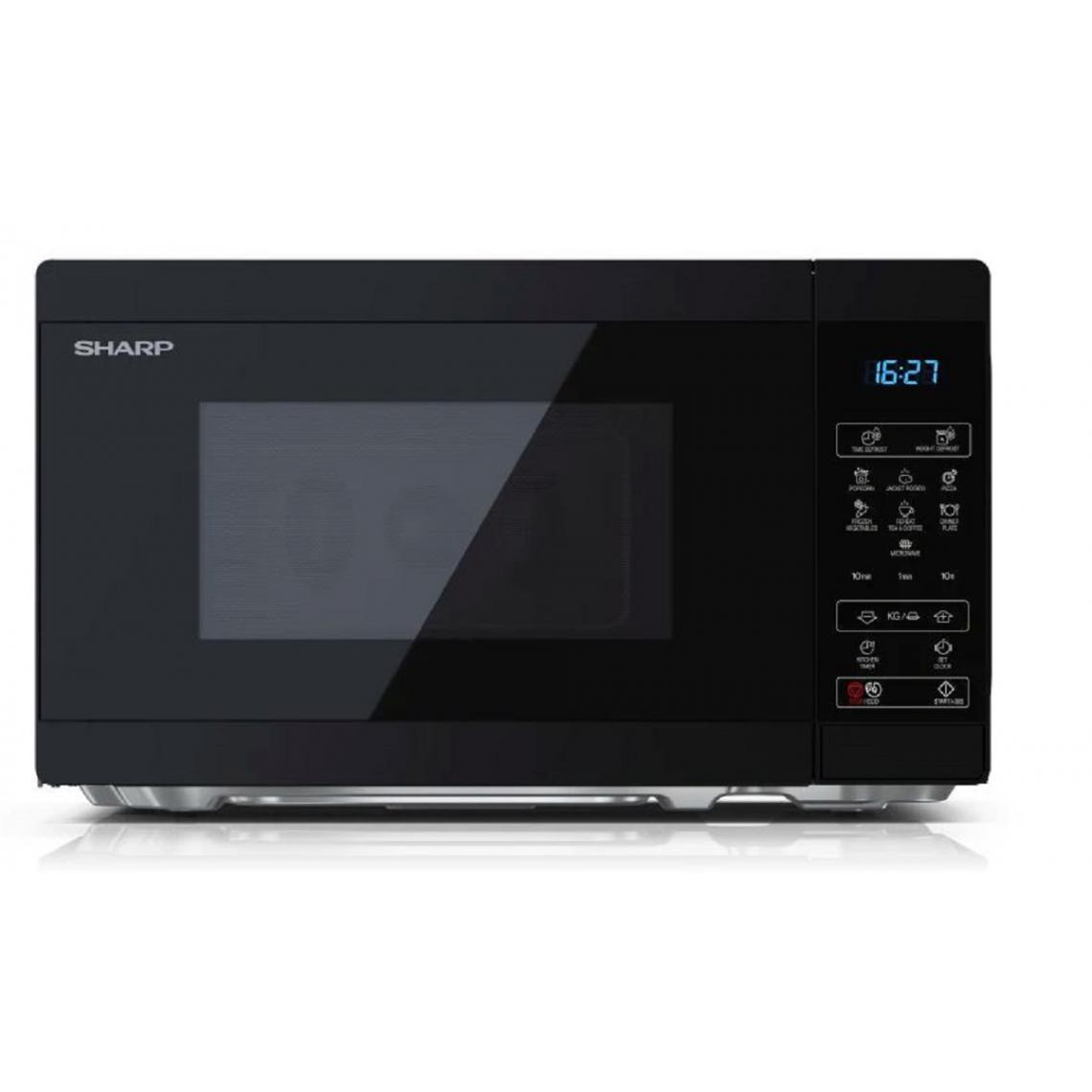 Sharp Four micro-ondes YC-MS02E-B - 20L - 800W - Noir
