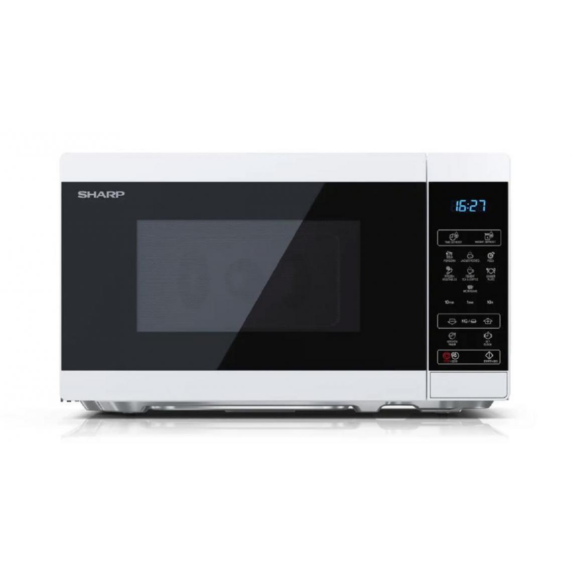 Sharp Four micro-ondes YC-MS02E-W - 20L - 800W - Blanc