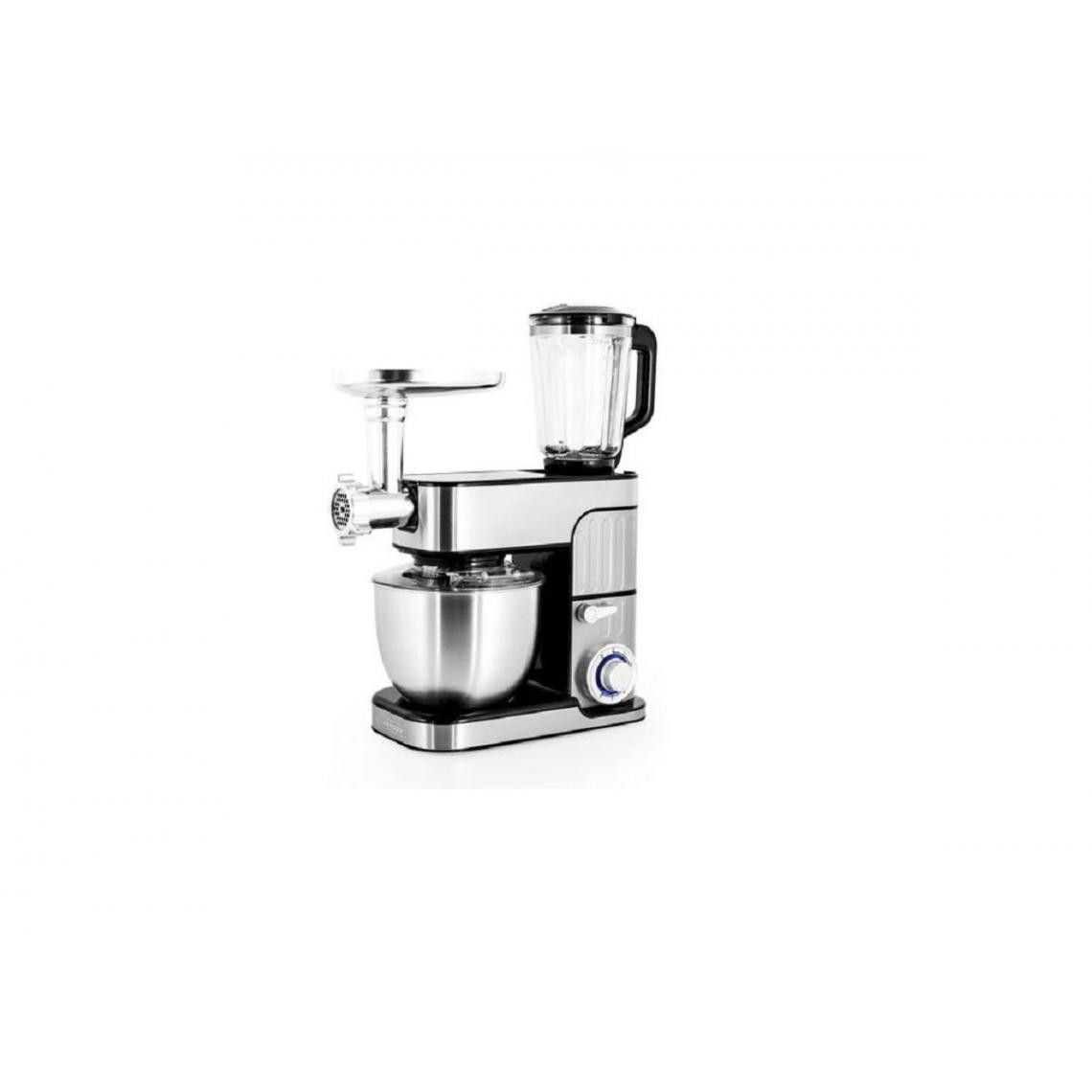 Kitchencook Robot pétrin multifonction Antara Pro - 5.5L - 3 en 1 - 1300W - Inox Gris