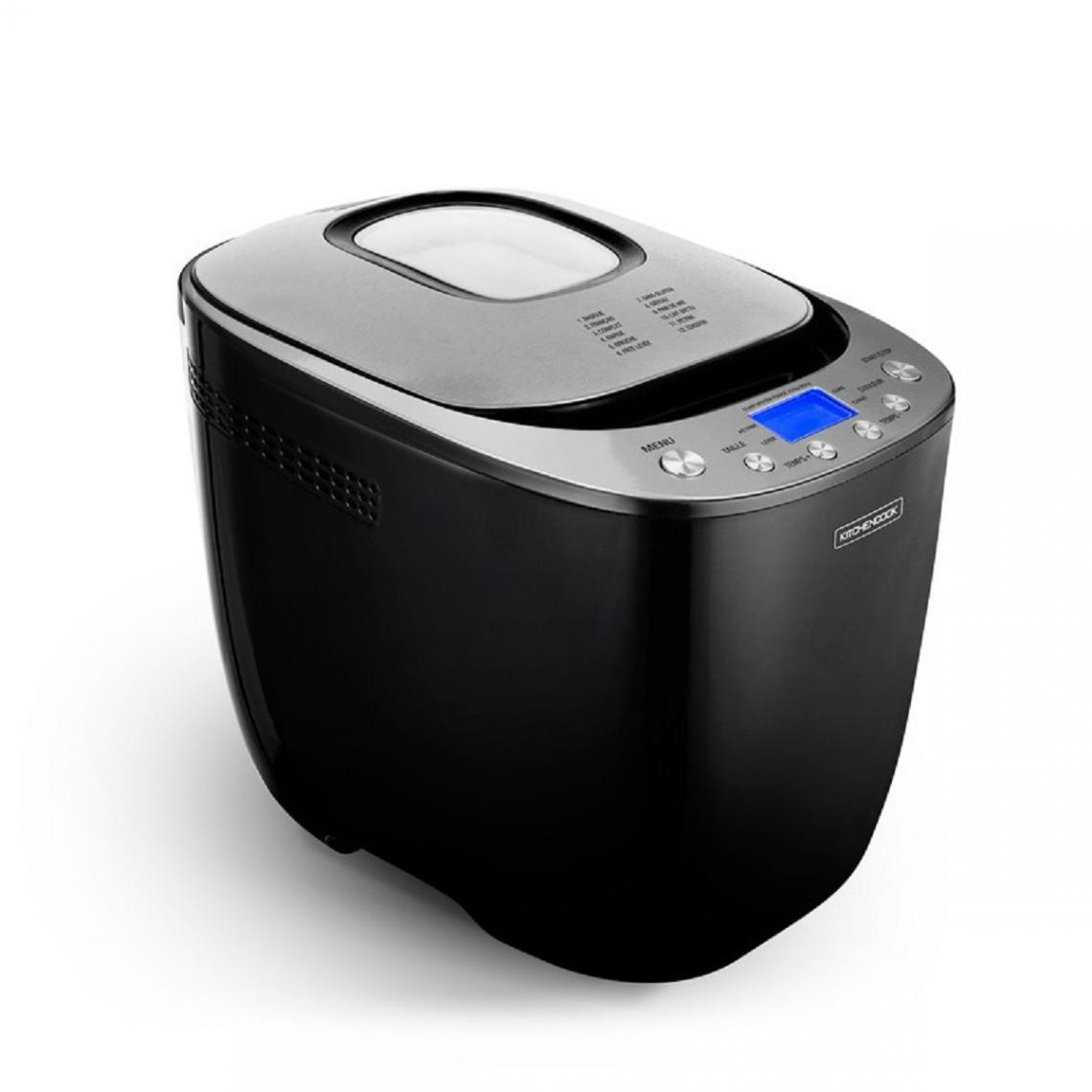 Kitchencook Machine à pain Smart-B - 12 programmes - 900g - Noir