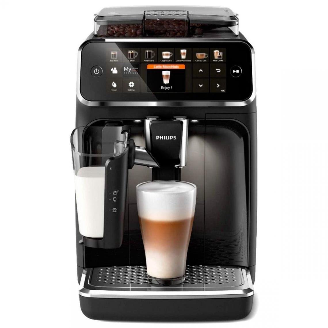 Philips Machine à café Expresso broyeur Série 5300 - EP5447/90 LatteGo