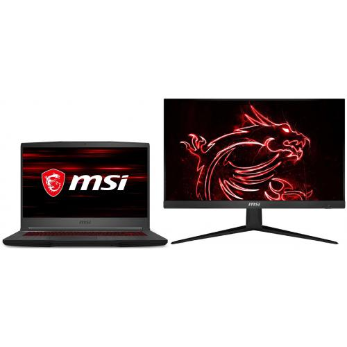 "Msi - GF65 Thin 10UE-034XFR - Noir + Ecran 24"" LED Optix G241V Msi   - PC Portable RTX Série 3000"