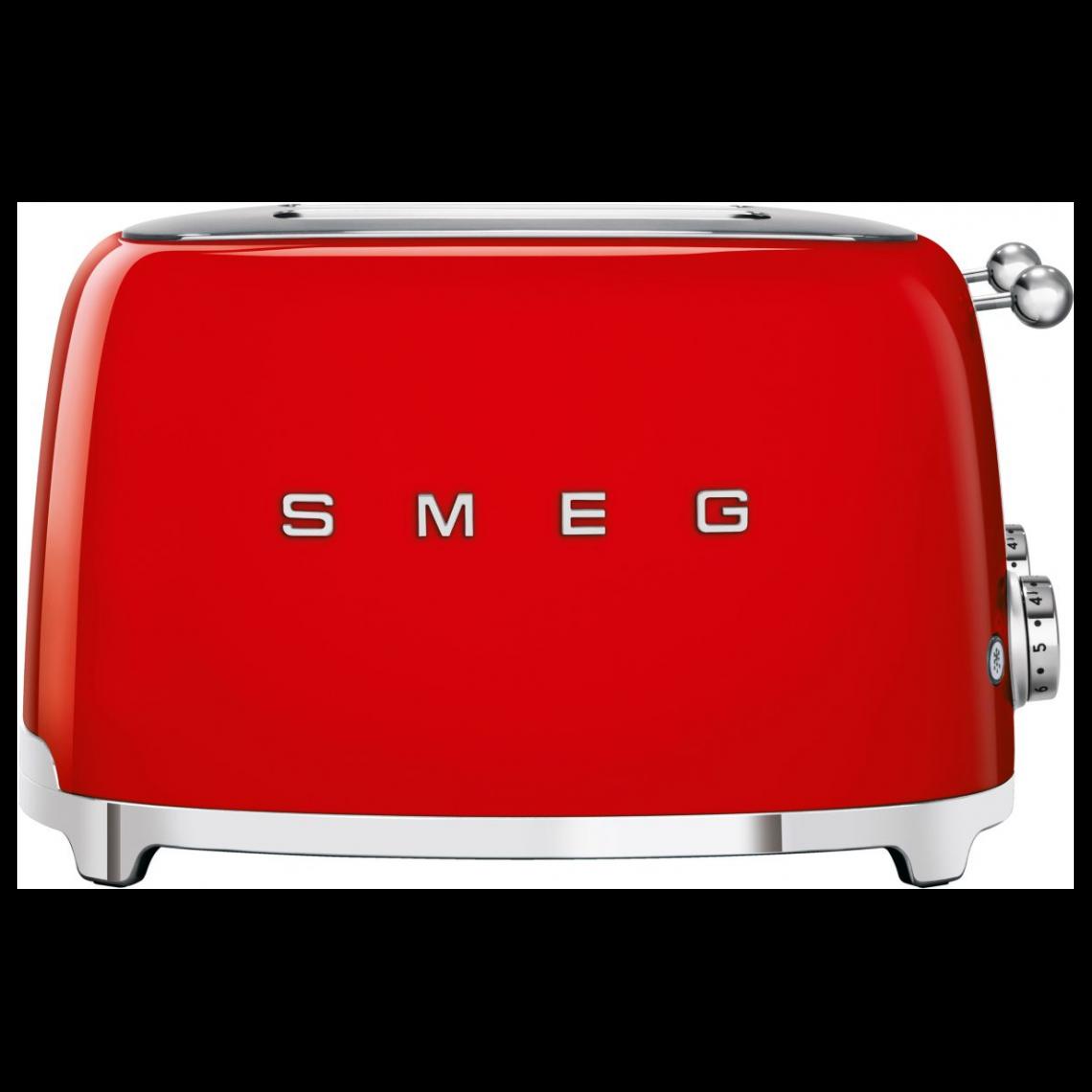 Smeg Grille-pain 4 tranches Années 50 - Rouge - TSF03RDEU