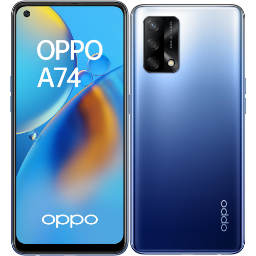 Oppo - A74 - 6/128 Go - Bleu Oppo   - Smartphone Android