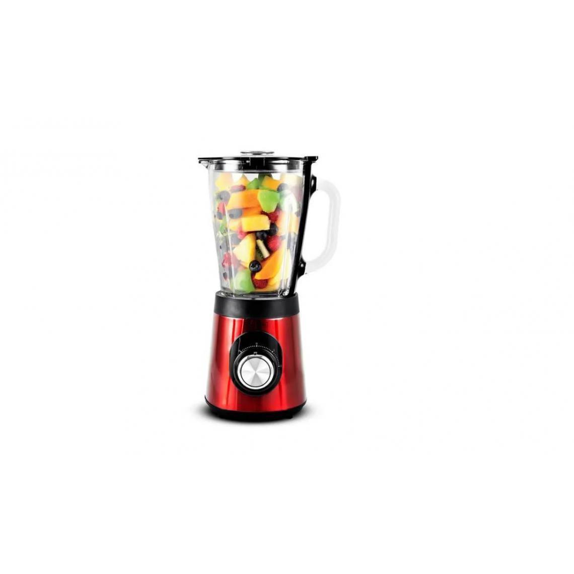 Kitchencook Blender en verre gradué 500W B9turbo - Rouge