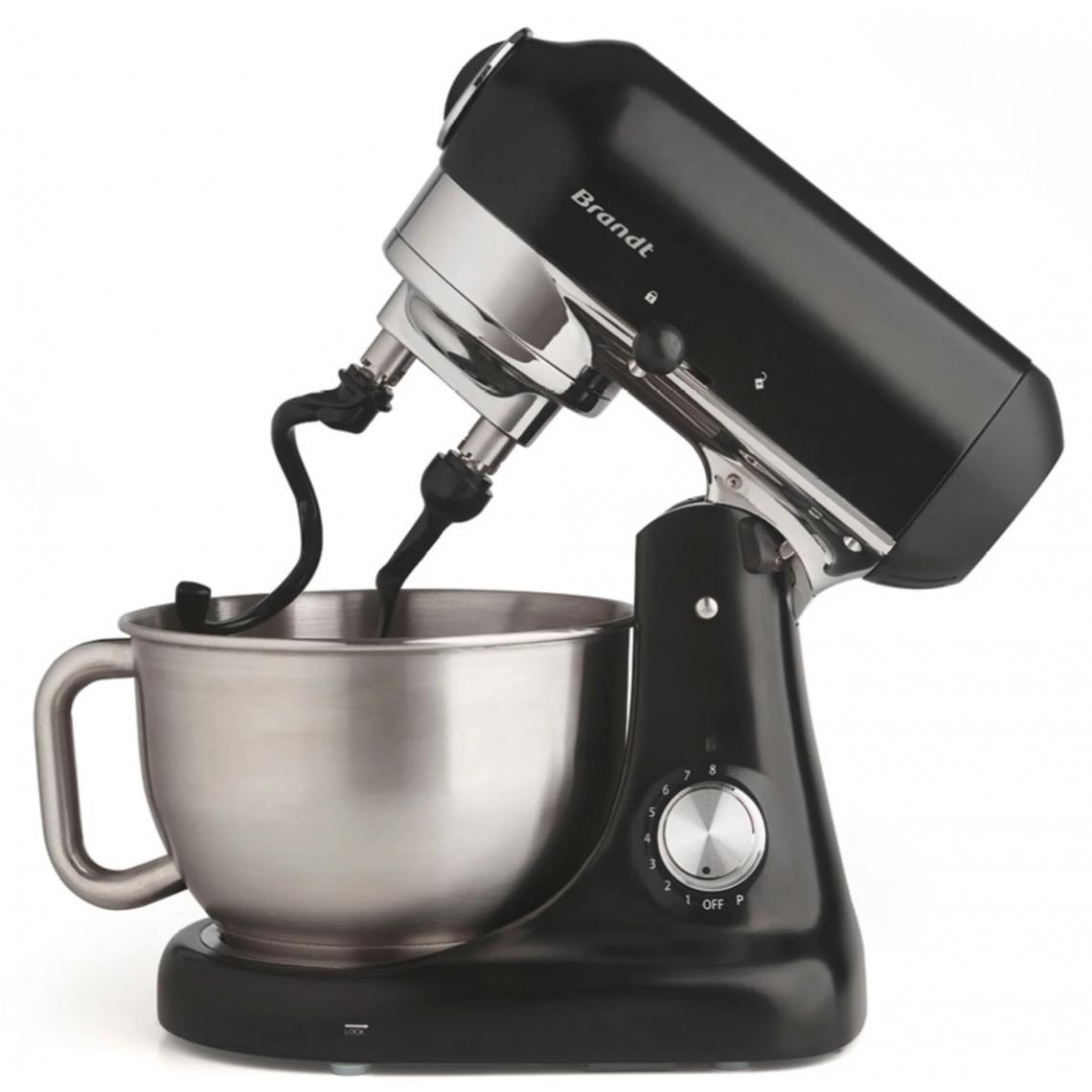 Brandt Robot pâtissier avec doubles crochets pétrisseurs - Noir - BR-173006