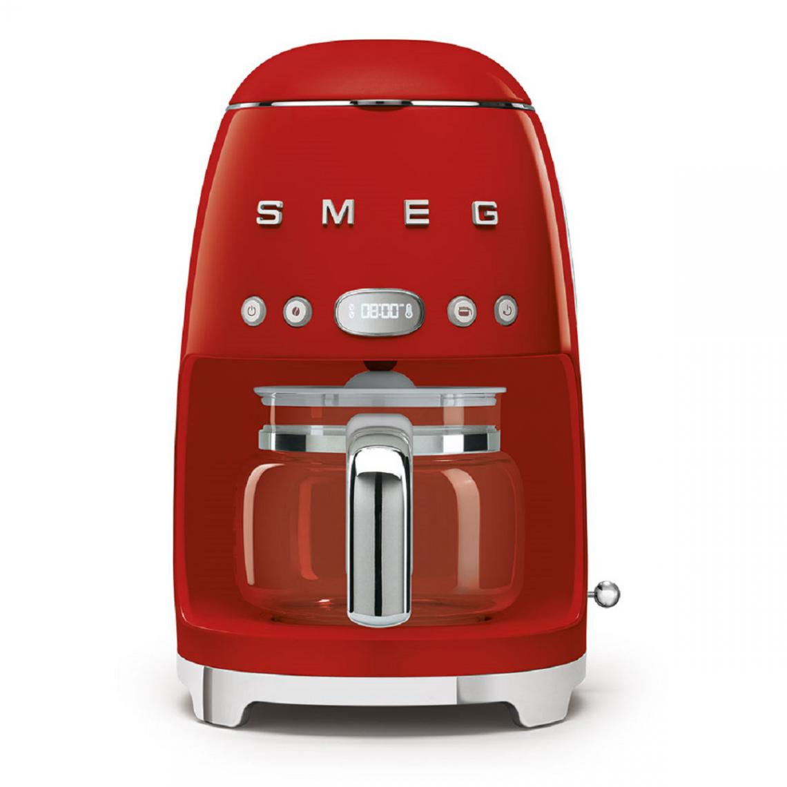 Smeg Cafetière filtre programmable 10 tasses Années 50 - Rouge - DCF02RDEU