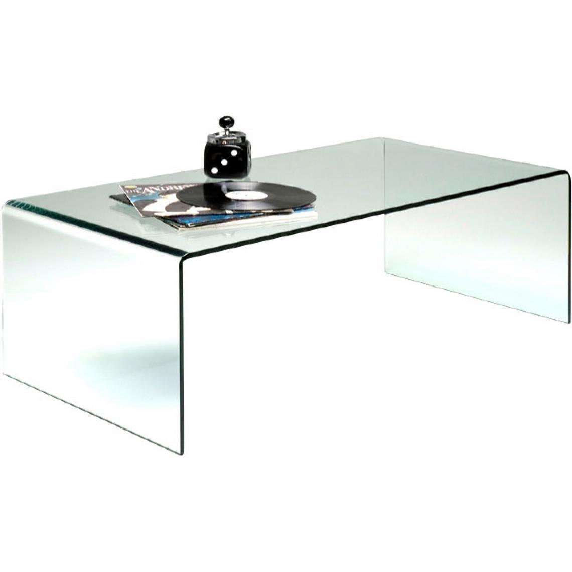 KARE DESIGN Table basse en verre Bahia 120 cm