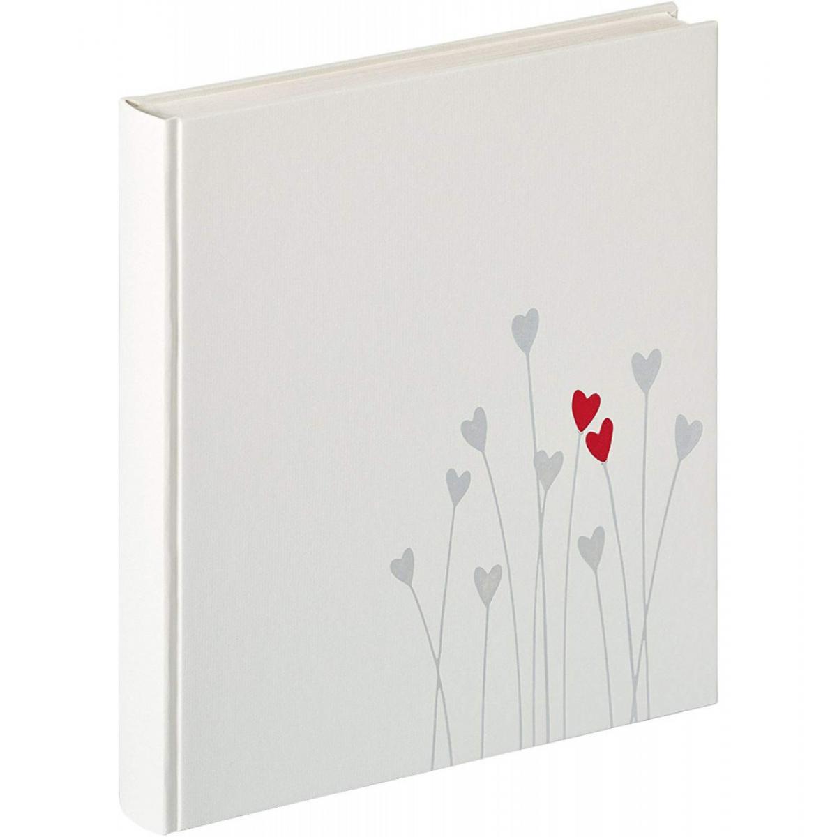 Ac-Deco Album photo de mariage Bleeding Heart - 30,5 x 28 cm - Blanc