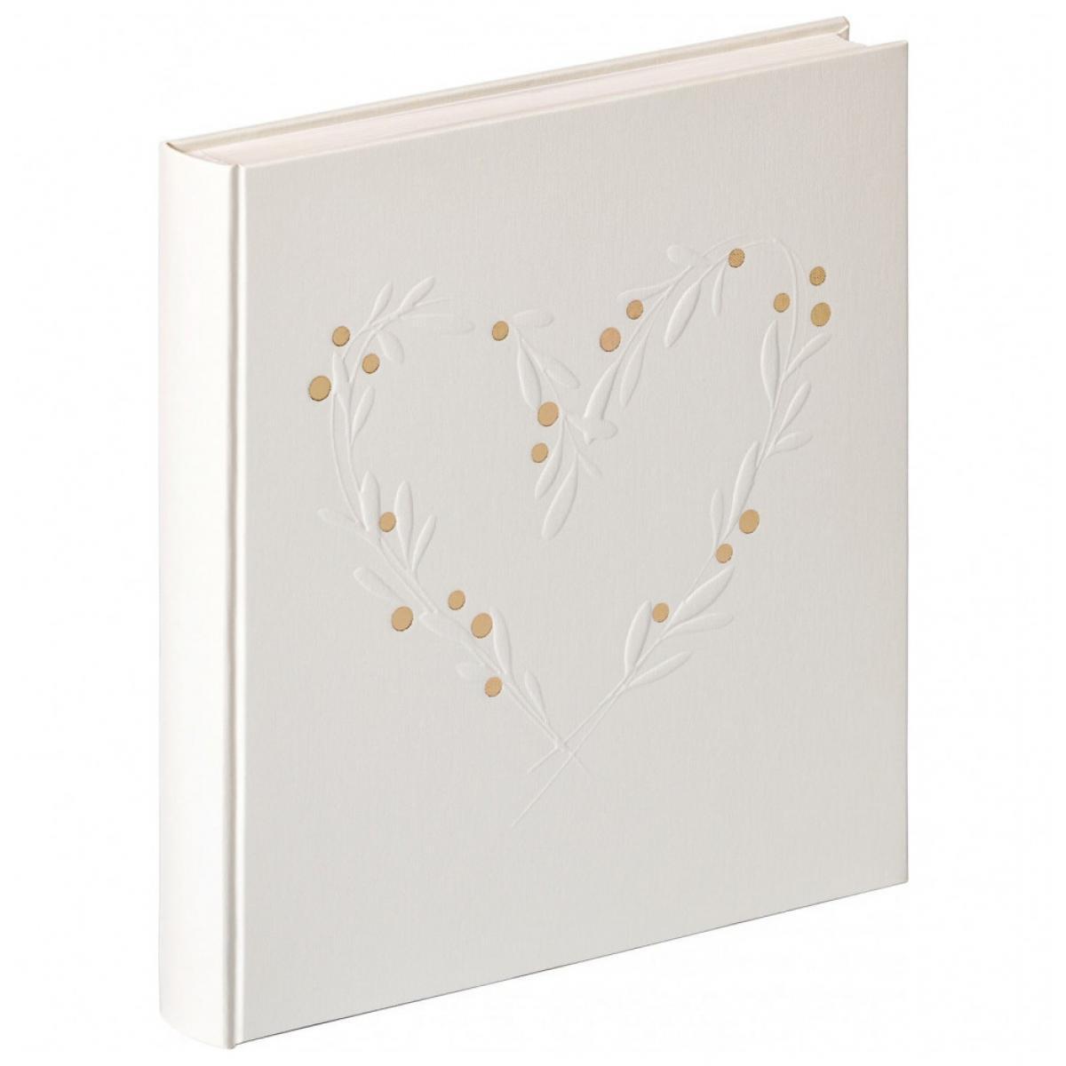 Ac-Deco Album photo de mariage Sentimental - 30,5 x 28 cm - Blanc