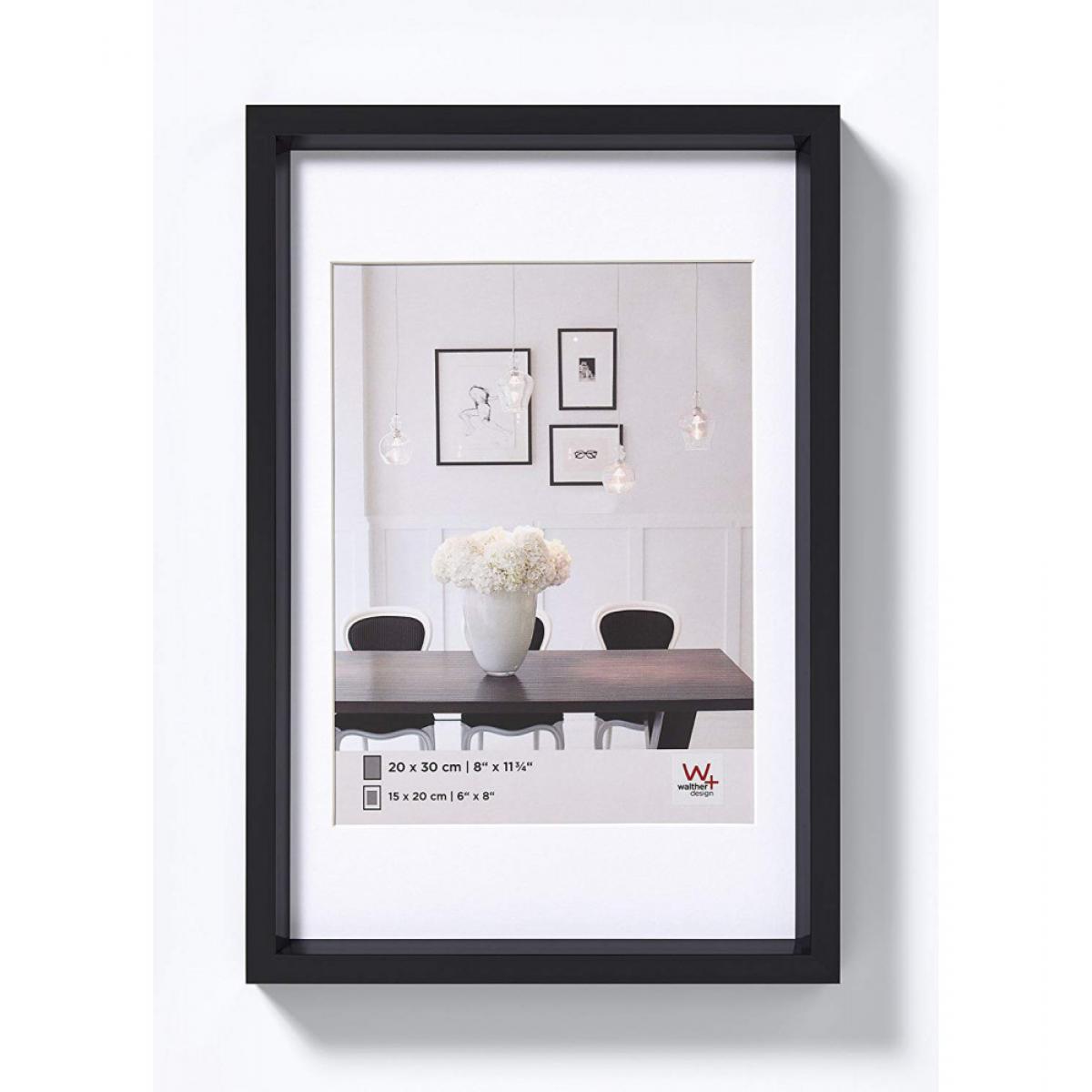 Ac-Deco Cadre photo imitation acier Steel Style - 15 x 20 cm - Noir