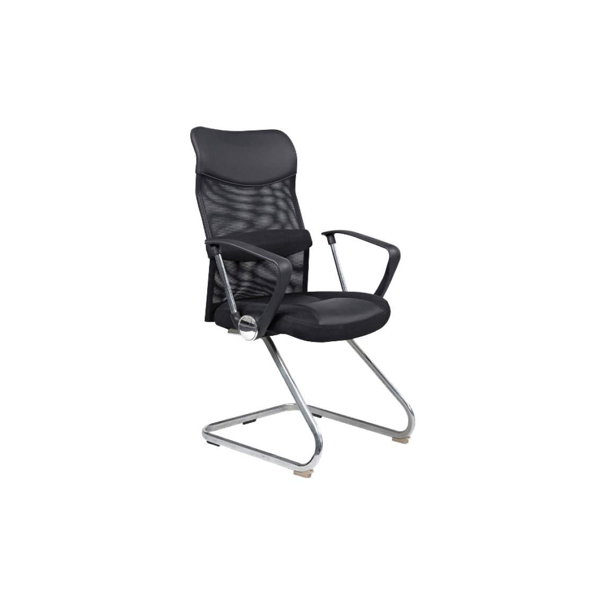 Ac-Deco Chaise de bureau - Q030 - 60 x 47 x 104 cm - Noir