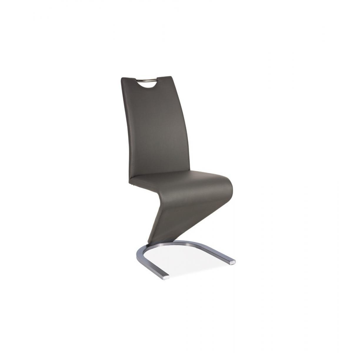 Ac-Deco Chaise design - H090 - 45 x 43 x 102 cm - Cadre en acier - Taupe