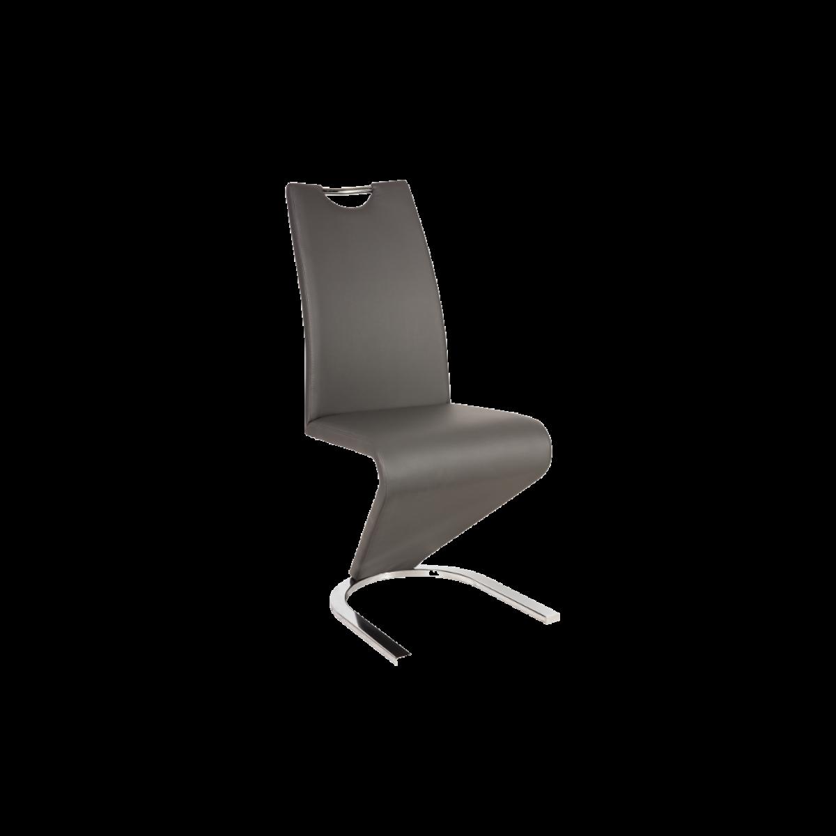 Ac-Deco Chaise design - H090 - 45 x 43 x 102 cm - Gris