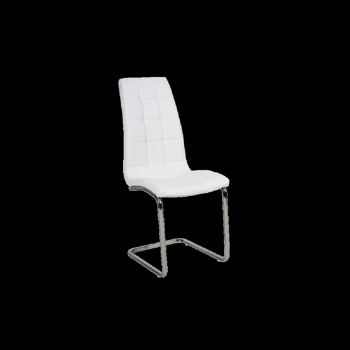 Ac-Deco Chaise en cuir PU - H103 - 43 x 42 x 102 cm - Blanc