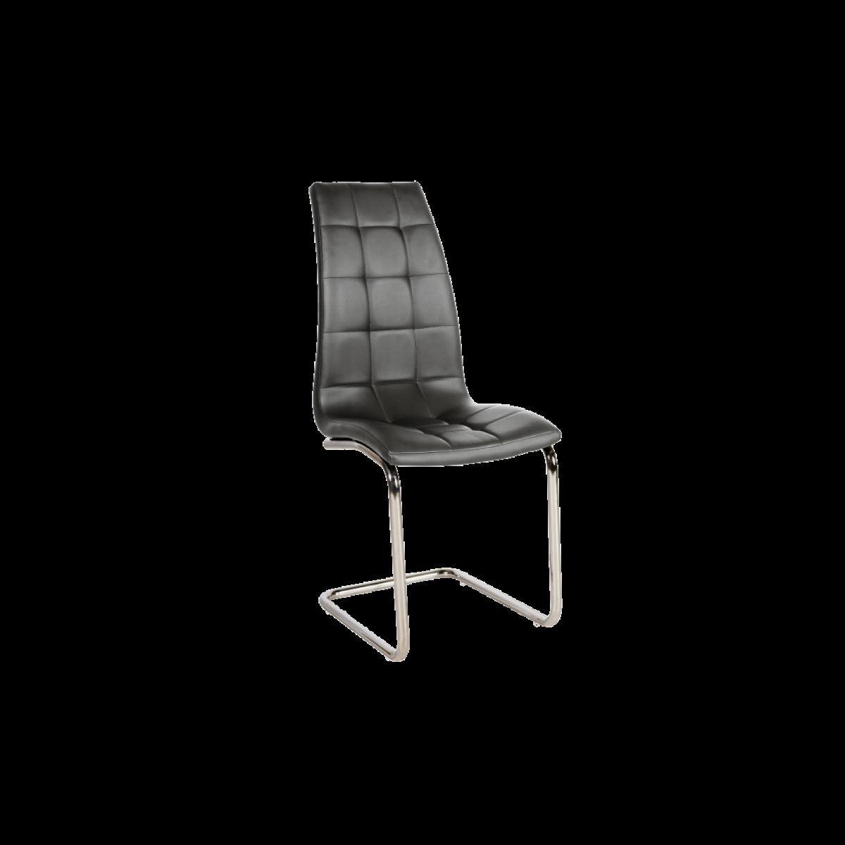 Ac-Deco Chaise en cuir PU - H103 - 43 x 42 x 102 cm - Gris