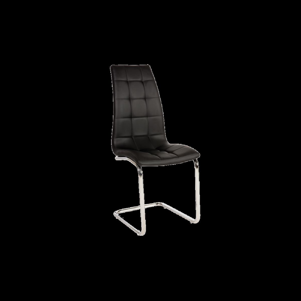 Ac-Deco Chaise en cuir PU - H103 - 43 x 42 x 102 cm - Noir