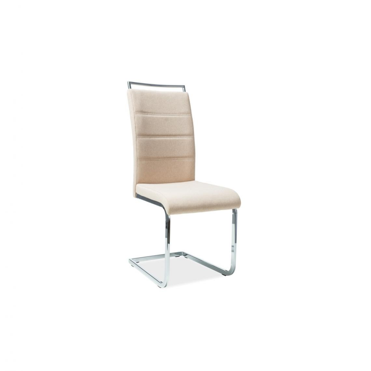 Ac-Deco Chaise en tissu - H441 - 42 x 41 x 102 cm - Beige