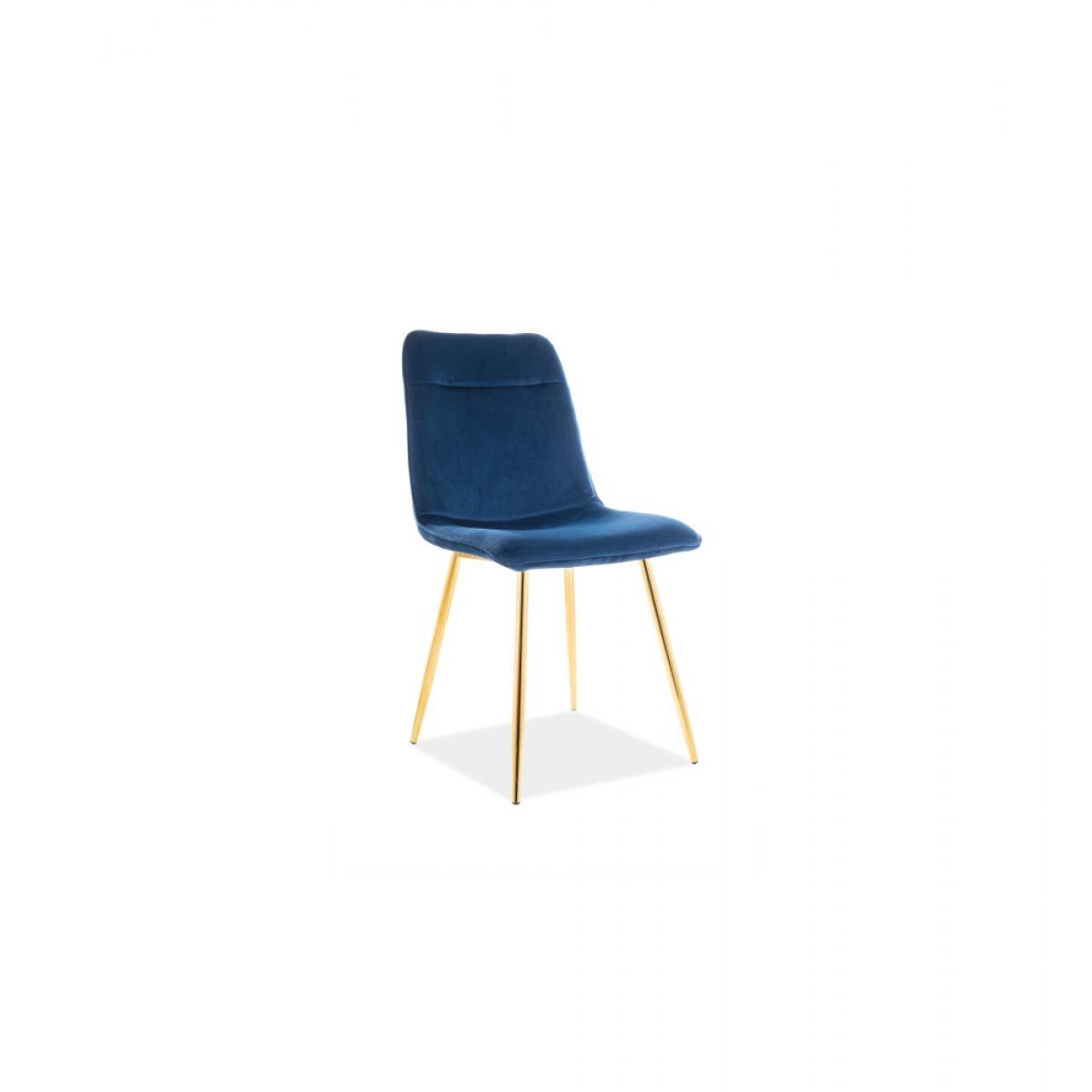 Ac-Deco Chaise Eros - L 47 x l 47 x H 87 cm - Bleu