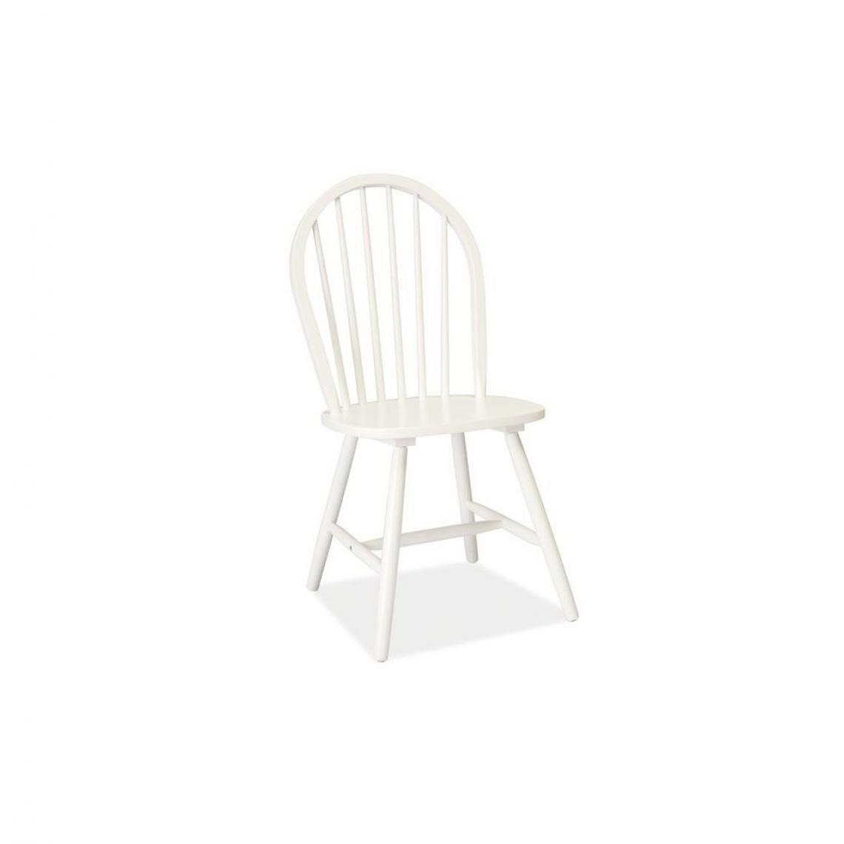 Ac-Deco Chaise - Fiero - 45 x 39 x 95 cm - Bois - Blanc