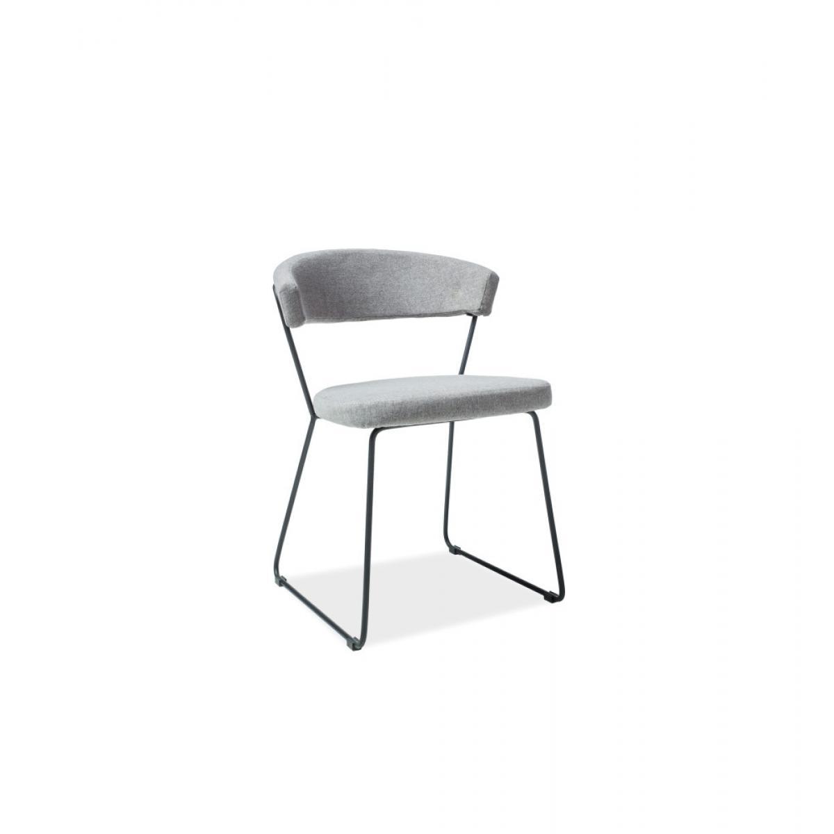 Ac-Deco Chaise graphique - Helix - 53 x 46 x 77 cm - Gris