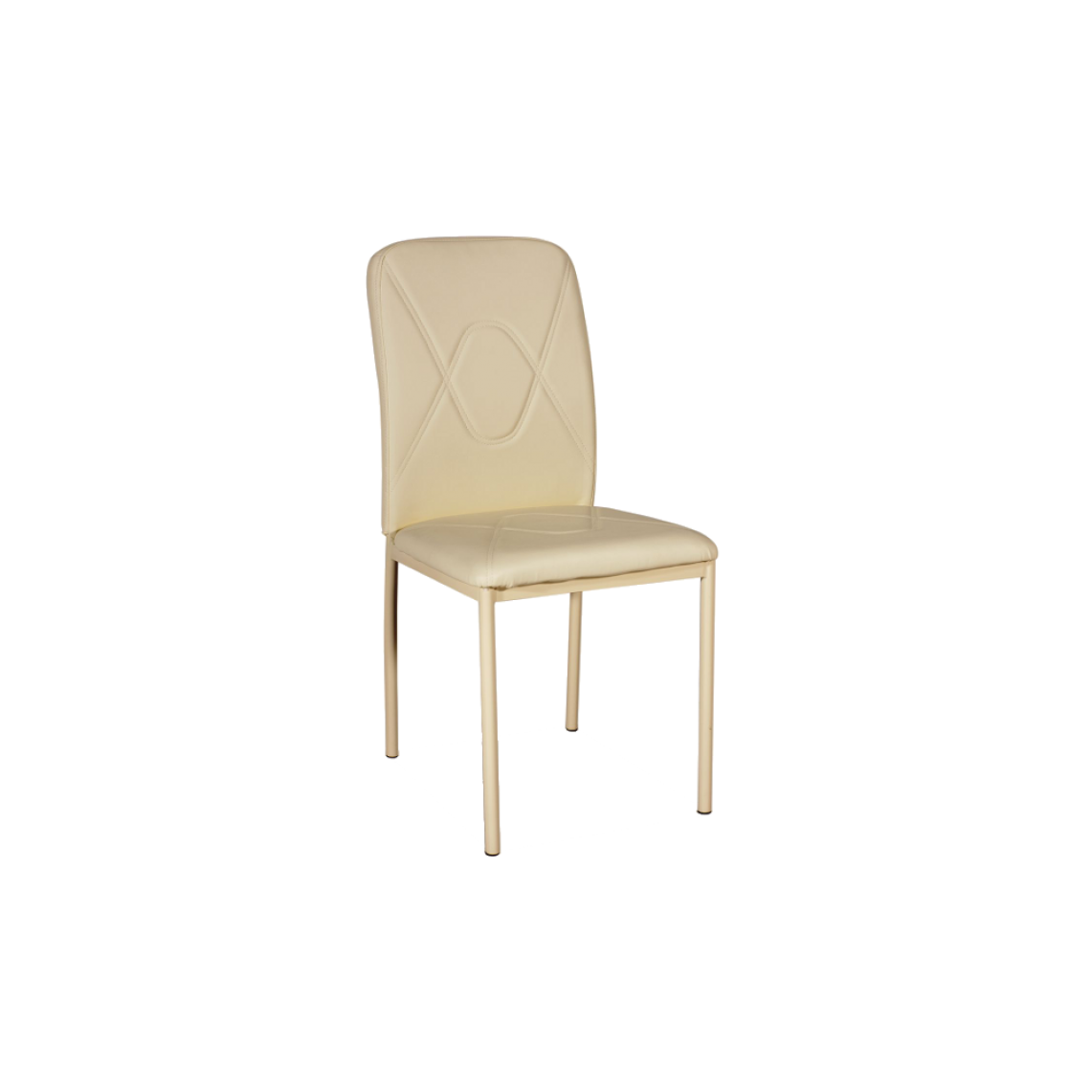 Ac-Deco Chaise moderne - H 623 - 42 x 41 x 90 cm - Beige