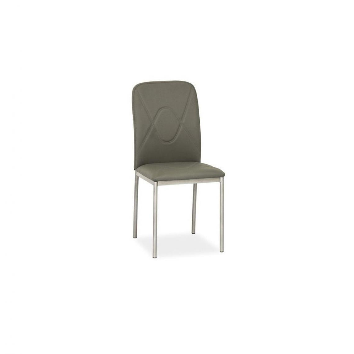 Ac-Deco Chaise moderne - H 623 - 42 x 41 x 90 cm - Gris